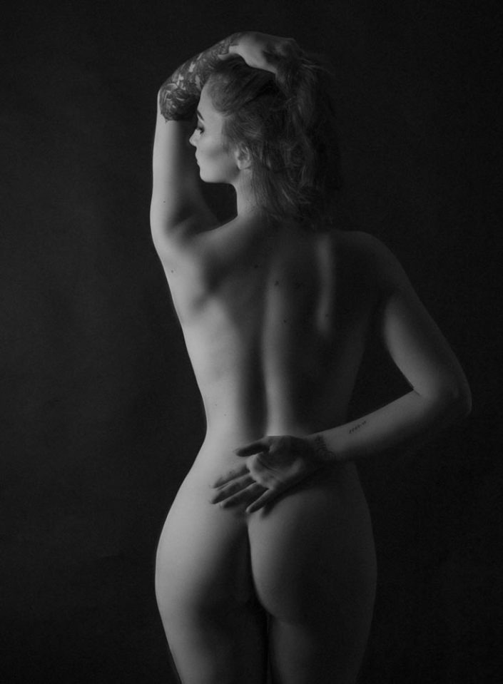 portrait de femme nu