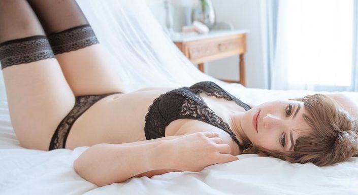 photo de portrait boudoir glamour