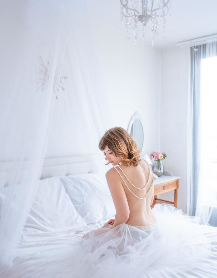 photo boudoir glamour voile